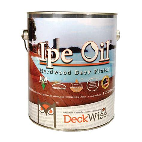 ipe oil hardwood deck finish  gallon deckwise