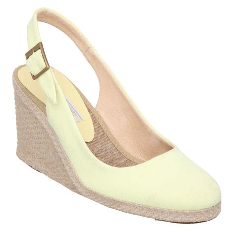 new pied a terre imperia womens yellow high wedge