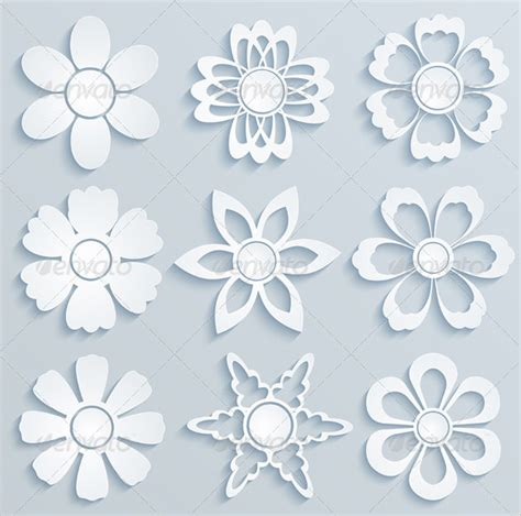 floral paper cut out card template 14 paper flower templates pdf doc psd vector eps