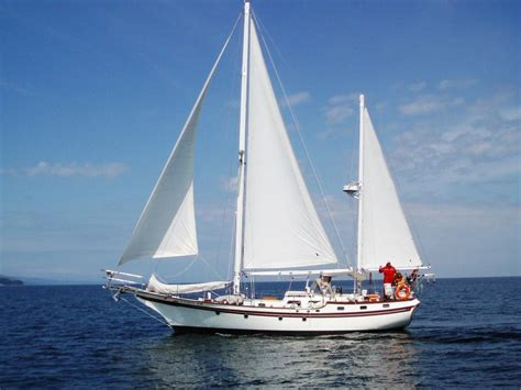sailboat in water 1983 blue water yachts vagabond 47 sailboat for sale in