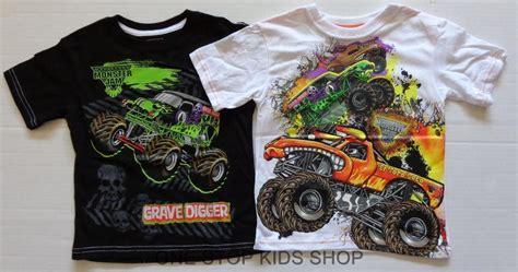bigfoot monster truck t shirts monster jam truck boys 4 5 6 7 tee shirt top grave digger
