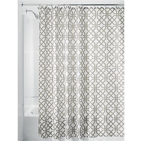 stall shower curtain 54 x 78 interdesign trellis fabric shower curtain stall 54 quot x 78