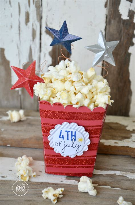popcorn box templatefourth  july party  idea room