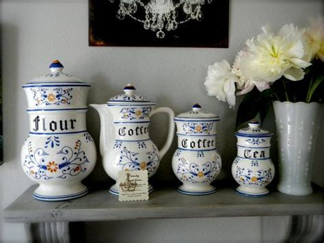 blue kitchen kanister set 17 best images about kitchen canisters on
