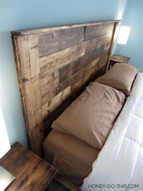 build a bed headboard remodelaholic 50 diy handmade headboards link party