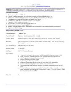 Sap Bw Resume Sle by Resume Sap Bw And Bw Abap 3 2yrs