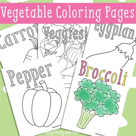 easy peasy coloring pages vegetables coloring pages free printable easy peasy