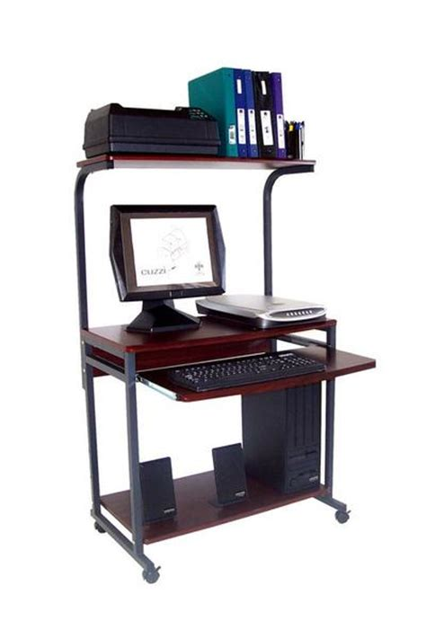 Small Portable Computer Desk Sts 7801 Compact Portable Computer Desk W Hutch Shelf Keyboard Tray Oceanpointe