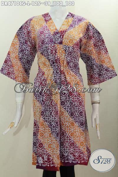 Baju Gradasi 3 In 1 dress batik trendy dengan warna gradasi baju batik keren