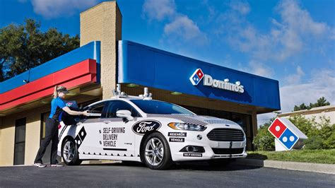 Dominos Pizza Cars by Domino S And Ford Will Test Self Driving Pizza Delivery