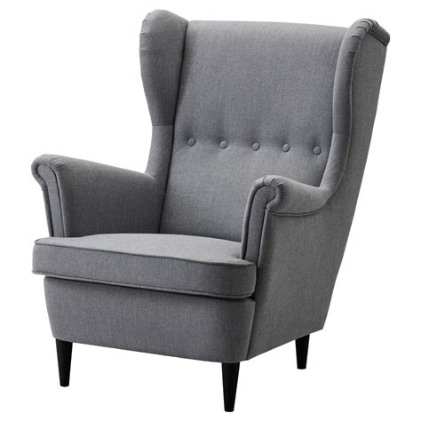 strandmon wing chair nordvalla grey
