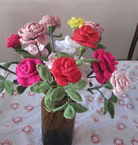 natural crochet tejidos flores para cintillos mis otros tejidos manualidades