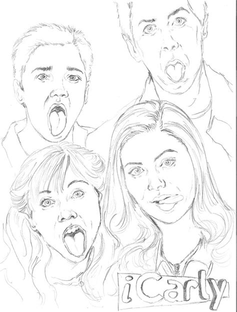 free printable icarly coloring pages coloring home