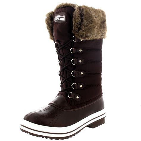 womens warm side zip fur duck muck lace up