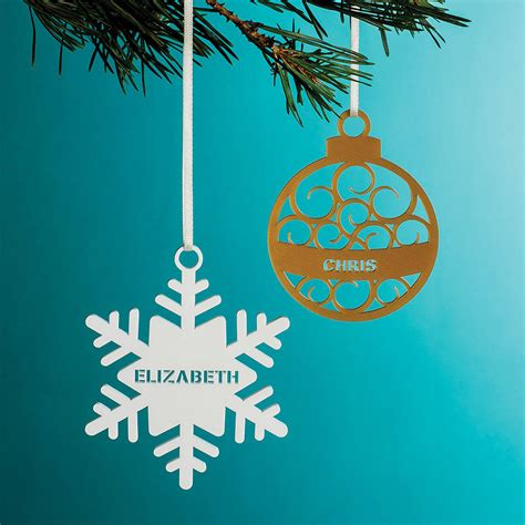 personalised decorations personalised tree decoration by twist