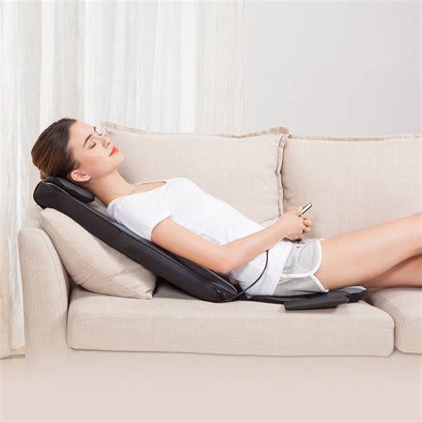 shiatsu massage cushion  heat chair pad kneading   home car massager  ebay