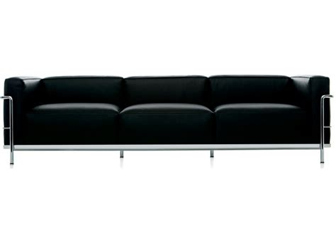 lc3 sofa lc3 three seater sofa cassina milia shop