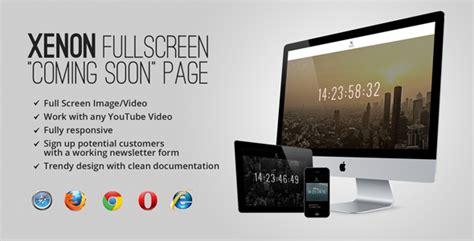 themeforest xenon site templates xenon countdown youtube video