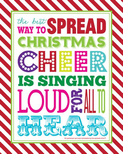life  designs   spotted olive  printable spread christmas cheer quote subway