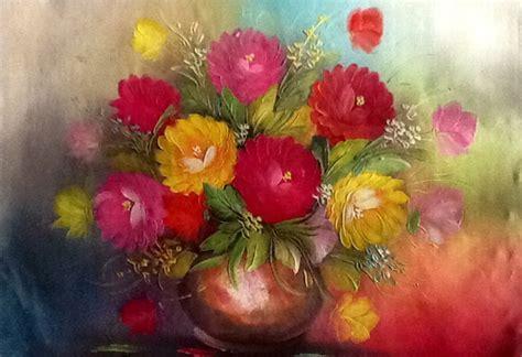 Diy Lukisan Warna Warni gambar gambar bunga kartun tulip vas pernik dunia lukisan