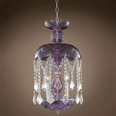 Purple Chandelier Joshua Marshal 701409 Harvest Design 3 Light 11 Quot Purple Chandelier From Harvest Collection