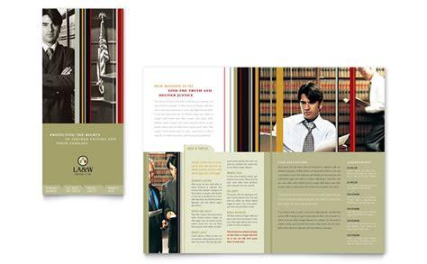 lawyer law firm tri fold brochure template design