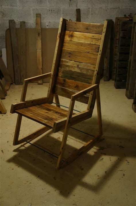 Homemade Rocking Chair by Diy Pallet Wood Rocking Chair