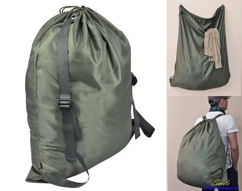 Laundry Bag Backpack Drawstring Lock Storage Cloth Her Laundry Backpack