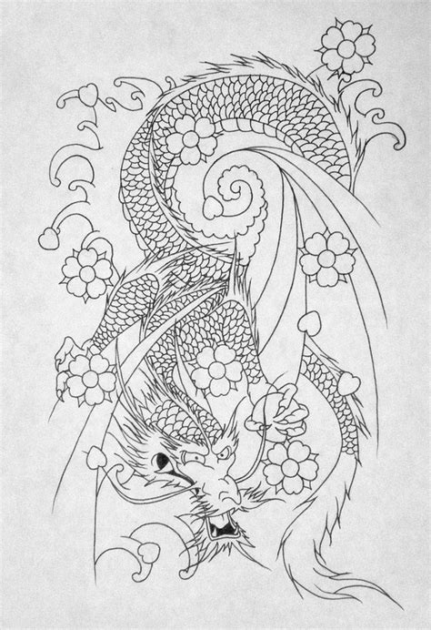 tattoo japanese outline japanese dragon outline by katie 92 on deviantart tatts