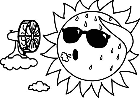 summer sun coloring page www pixshark com images