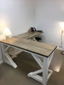diy l desk best 25 rustic desk ideas on rustic computer