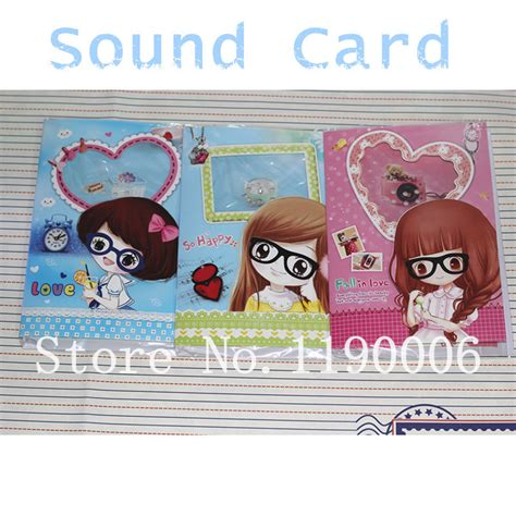 Free Musical Birthday Cards For Friends Free Shipping Cute Glasses Girl Musical Birthday Cards