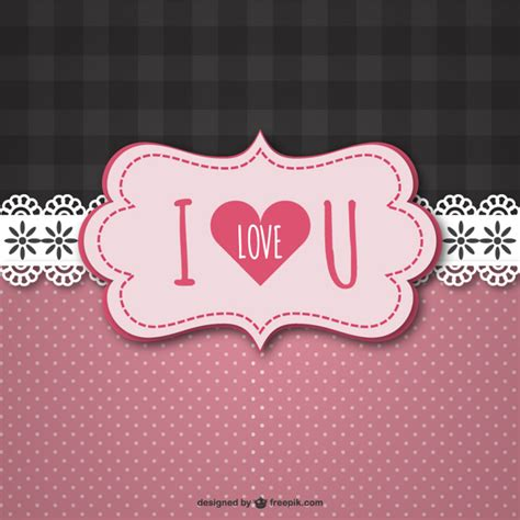 i love vintage vintage i love u card vector free download