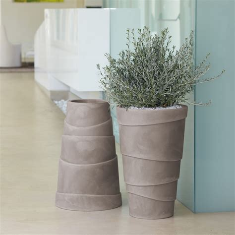 anfore da interno vasi da giardino e casa in plastica zig zag nicoli