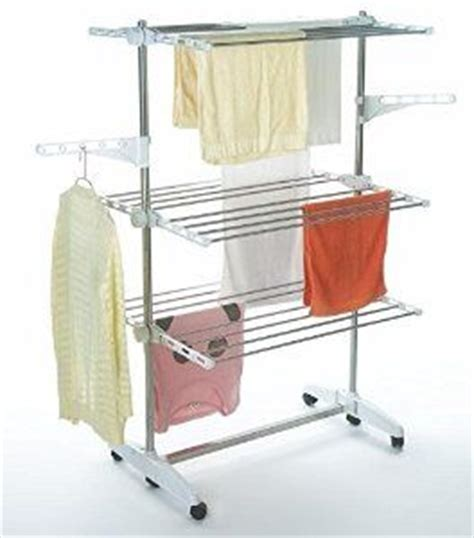 Clothes Drying Rack With Wheels by Todeco Clothes Airer On Wheels 3 Tier Foldable Laundry