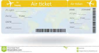 variant of air ticket stock vector image of business