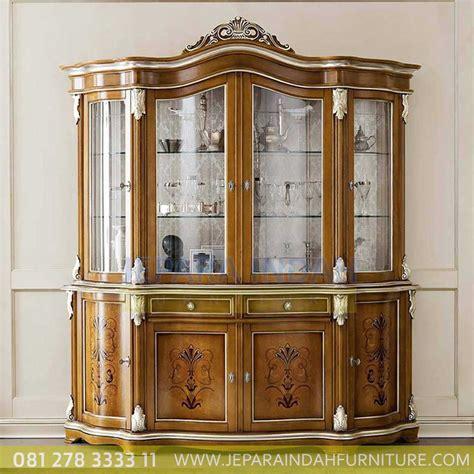 lemari pajangan hias mewah kayu jati jepara indah furniture