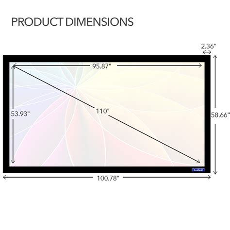 Simple Screen Fixed Frame 84 4 3 Soft Matte Grey 1 qualgear 174 qg ps ff6 169 110 w 16 9 fixed frame projector screen 110 inch 4k hd ultra white 1 2
