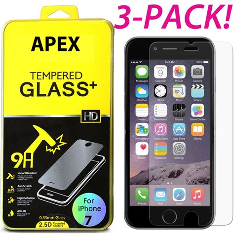 premium real screen protector tempered glass for iphone xs max xr 6 6s 7 8 ebay