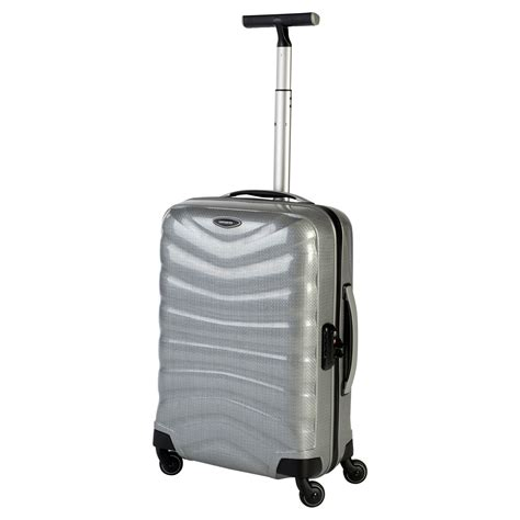Samsonite Cabin Spinner by Samsonite Firelite 4 Wheel 55cm Cabin Spinner Suitcase In Silver Lyst