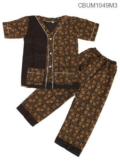 Piyama Batik Anak by Baju Batik Piyama Anak Motif Capocino Setelan Murah