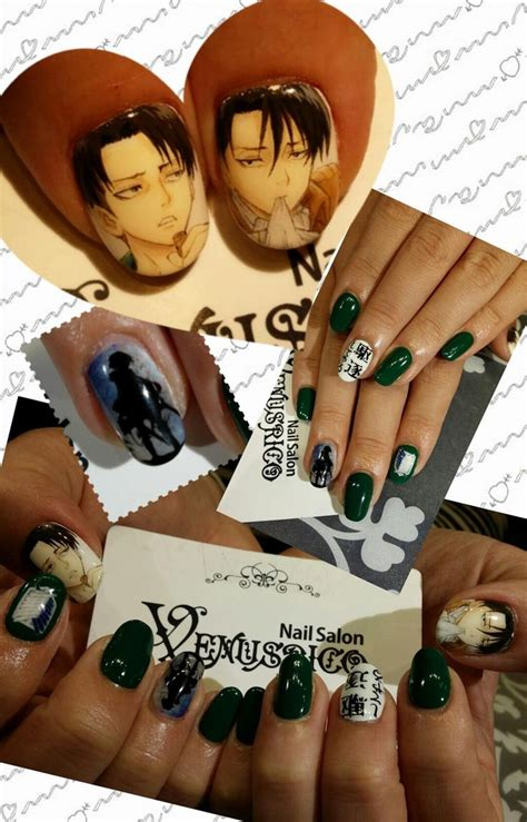 nail art anime tutorial my nails are shorter so we could actually make levi to