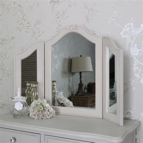 ornate dressing table vanity mirror elise grey