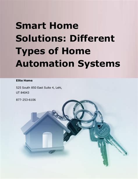 smart home solutions smart home solutions different types of home automation