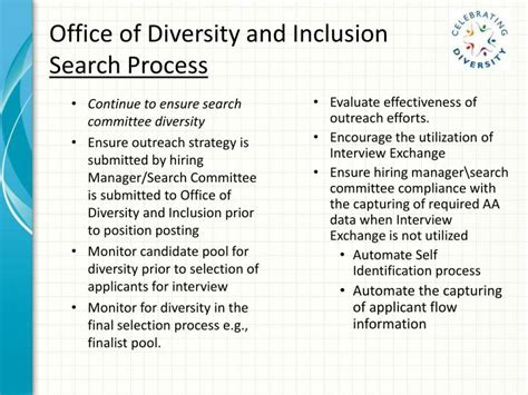 Office Of Diversity And Inclusion ppt office of diversity and inclusion powerpoint