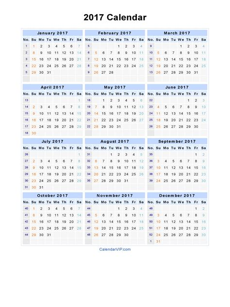 Printable Yearly Calendar 2017 With Holidays Free Printable 2017 Calendar With Holidays Mindfullness