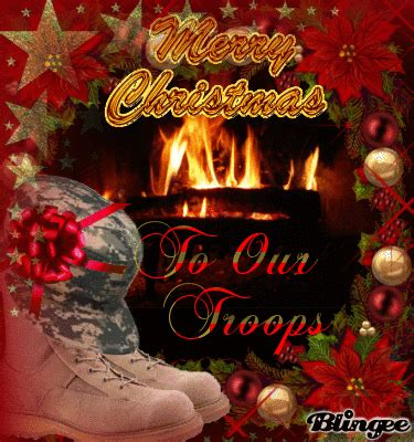 merry christmas   troops picture  blingeecom