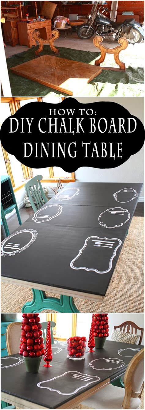 chalkboard paint dining table how to chalk board dining table