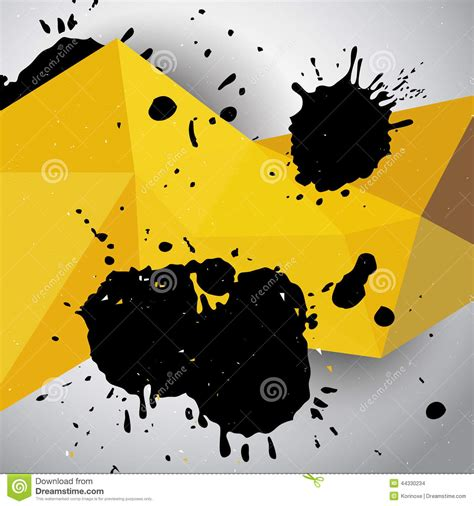 black yellow wallpaper vector abstract yellow grunge geometric background stock vector
