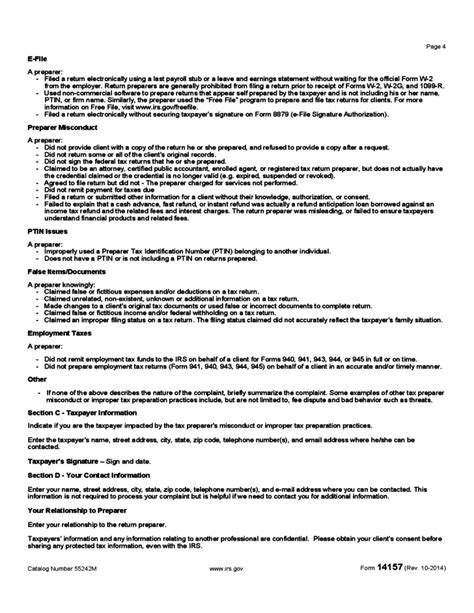 Irs Complaint Form | Irs Complaint Form
